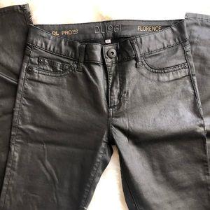 Black coated skinny jeans DL1961
